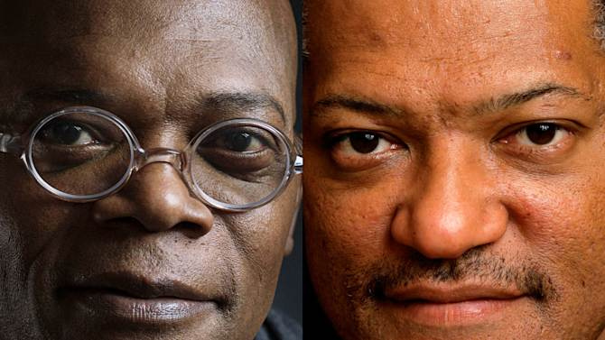 """This combination of 2012 and 2008 file photos shows actors Samuel L. Jackson and Laurence Fishburne. A Los Angeles newscaster apologized to Samuel L. Jackson for confusing him with fellow actor Laurence Fishburne during a live TV interview on Monday, Feb. 10, 2014. Thomas Busey, an Indiana University psychology professor who studies face recognition, says, """"There's a phenomenon called the 'other race effect,' where people in general have a tendency to confuse or fail to correctly name individuals of other races."""" (AP Photo/Invision, Victoria Will; Kathy Willens)"""