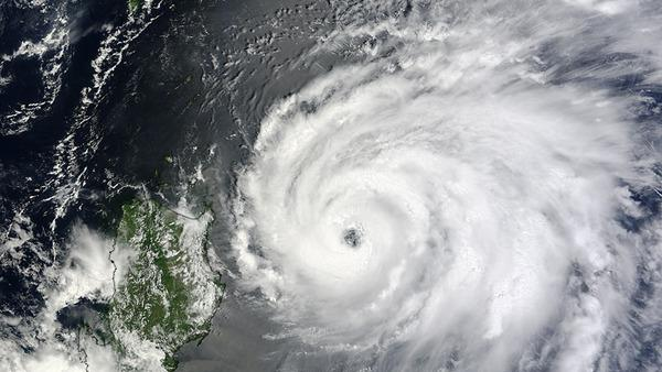 Massive Typhoon Tembin Snapped from Space