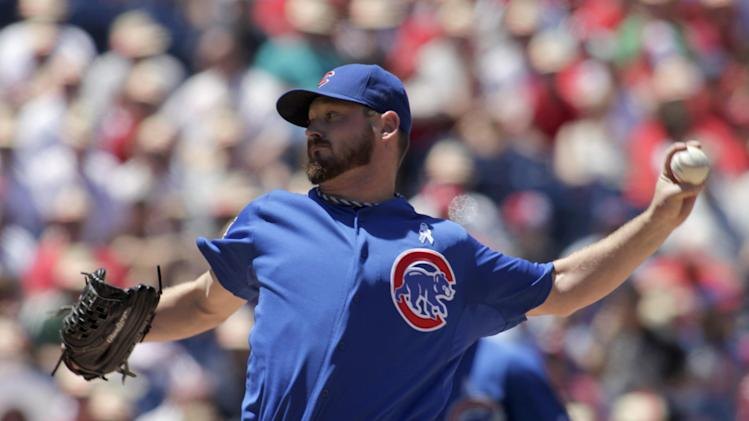 Wood pitches Cubs past Phillies 3-0