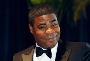 """File of comedian and actor Tracy Morgan from the television series """"30 Rock"""" arriving at the White House Correspondents' Association dinner in Washington"""