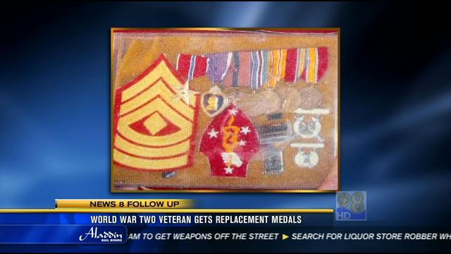 WWII veteran's stolen medals replaced