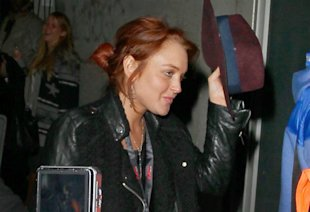Lindsay Lohan Joins Max George And The Wanted For A THIRD Night Of Partying