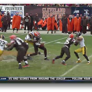 Cleveland Browns quarterback Jason Campbell's injured after fumble