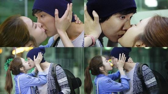 Yoo In Na and Ji Hyun Woo Kiss