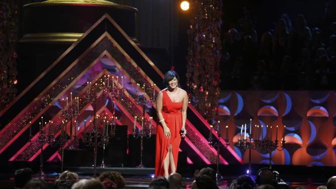 """Singer Tessanne Chin performs """"What I did for Love"""" at the 42nd Annual Daytime Emmy Awards in Burbank"""