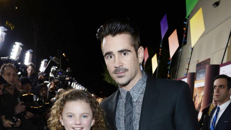 "Colin Farrell and Annie Rose Buckley attend the film premiere of ""Saving Mr. Banks"" in Burbank"