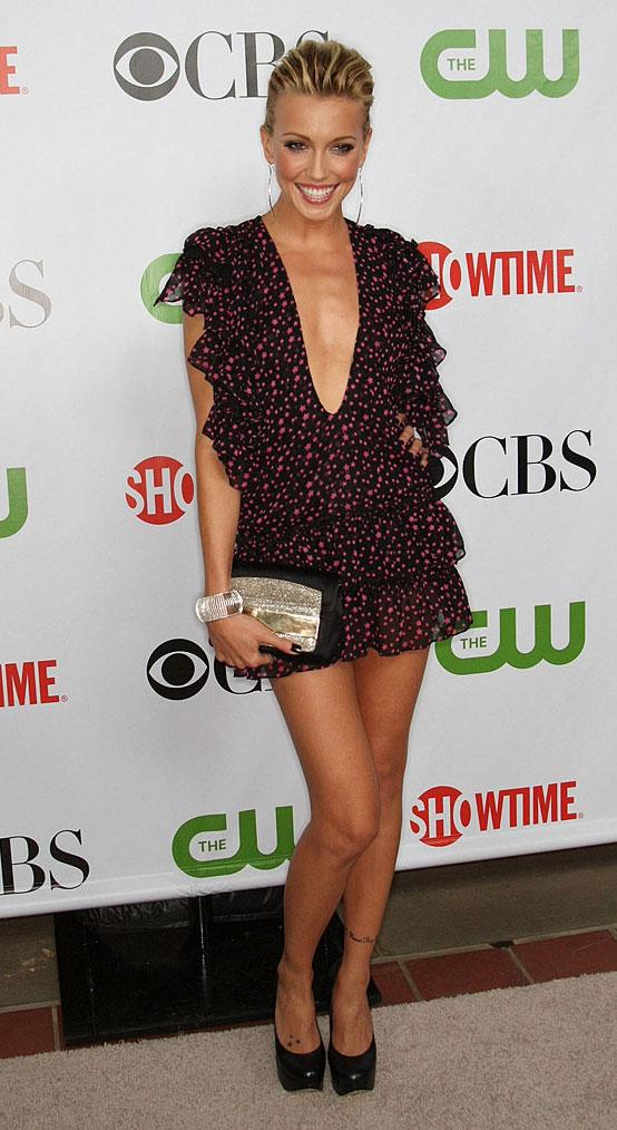 Katie Cassidy arrives at the CBS, CW, CBS Television Studio and Showtime TCA party at the Huntington Library on August 3, 2009 in Pasadena, California.