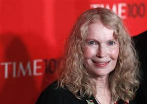 Actress Mia Farrow arrives at the Time 100 Gala in New York