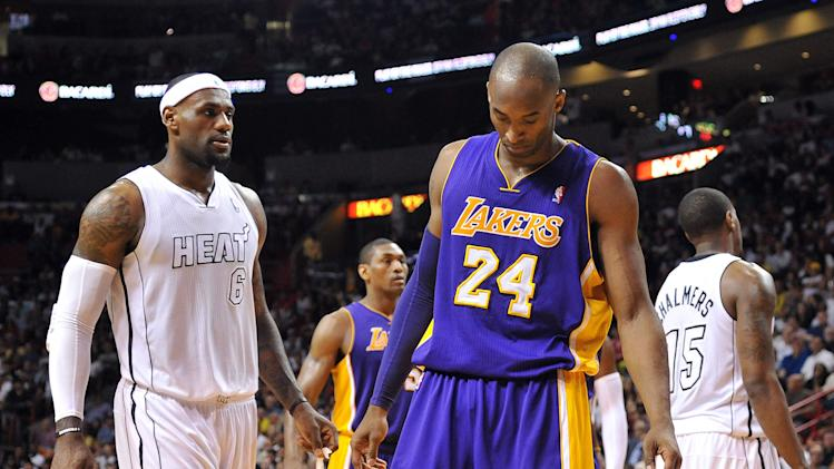NBA: Los Angeles Lakers at Miami Heat