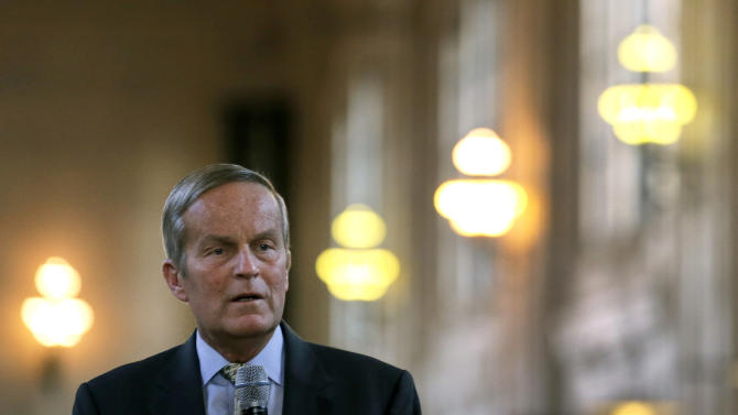 Missouri Senate candidate Rep. Todd Akin, R-Mo., speaks during a campaign stop at Union Station, Wednesday, Oct. 31, 2012, in Kansas City, Mo. (AP Photo/Charlie Riedel)