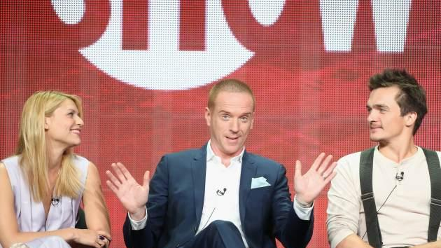 Claire Danes, Damian Lewis and Rupert Friend speak onstage during the 'Homeland' panel discussion at the CBS, Showtime and The CW portion of the 2013 Summer Television Critics Association tour at the Beverly Hilton Hotel on July 29, 2013 in Beverly Hills -- Getty Images