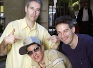 L-R: MCA aka Adam Yauch, Mike D aka Michael Diamond and Adrock aka Adam Horovitz of Beastie Boys in 2004
