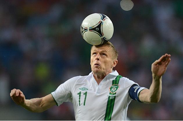 Irish Midfielder Damien Duff Controls AFP/Getty Images