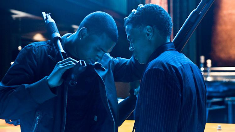 Takers Screen Gems 2010 Production Photos Chris Brown Michael Ealy