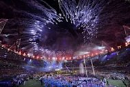 Fireworks light up the sky above the arena during the closing ceremony of the London 2012 Paralympic Games at the Olympic Stadium in east London. Britain was bidding a fond farewell to a golden summer of Olympic and Paralympic sport with a victory parade by athletes through London ending up at Buckingham Palace