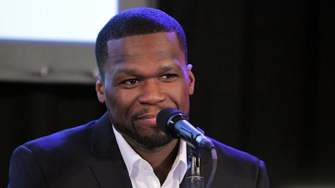 """Curtis """"50 Cent"""" Jackson speaks at the Produced by Conference on Sunday, June 9, 2013 in Los Angeles. (Photo by Sarah Hummert/Invision for Producers Guild/AP Images)"""