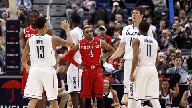 NCAA Basketball: Rutgers at Connecticut
