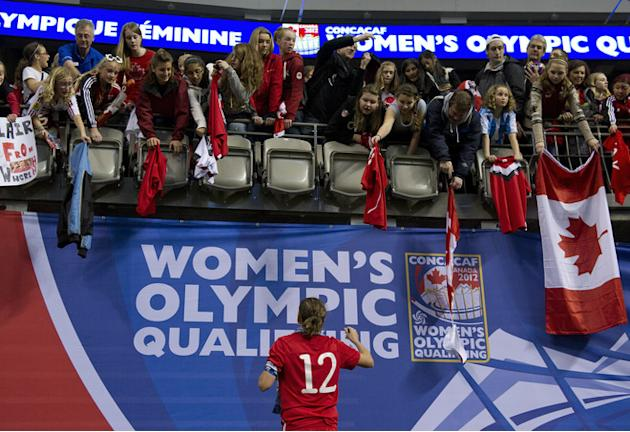 Christine Sinclair #12 Of Canada Signs Getty Images