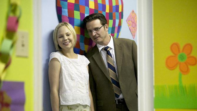 """This image released by SundanceTV shows Adelaide Clemens, left, and Aden Young from the series """"Rectify,"""" returning for a second season on Thursday at 9 p.m. EDT. (AP Photo/SundanceTV, Blake Tyers)"""