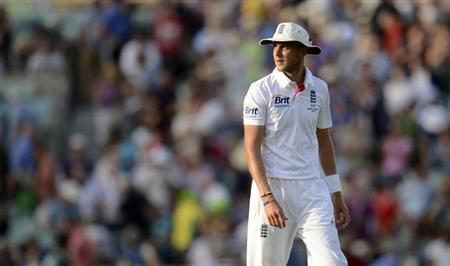 England's Stuart Broad looks on during the fifth Ashes cricket test match against Australia at The Oval cricket ground, London August 21, 2013. REUTERS/Philip Brown