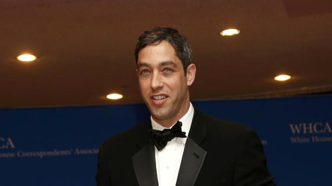 Businessman Nick Loeb arrives for the annual White House Correspondents' Association dinner in Washington