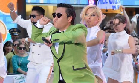 South Korean rapper PSY demonstrates his bizarre, globally inspiring horseriding dance on the Today show.