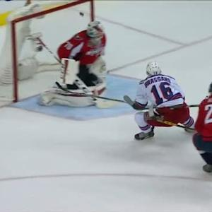 Brassard speeds in to score opening goal
