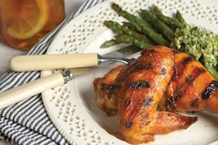 Grilled Chicken with Buffalo BBQ Sauce