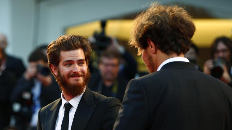 "Actor Andrew Garfield attends the red carpet for the movie ""99 Homes"" at the 71st Venice Film Festival"