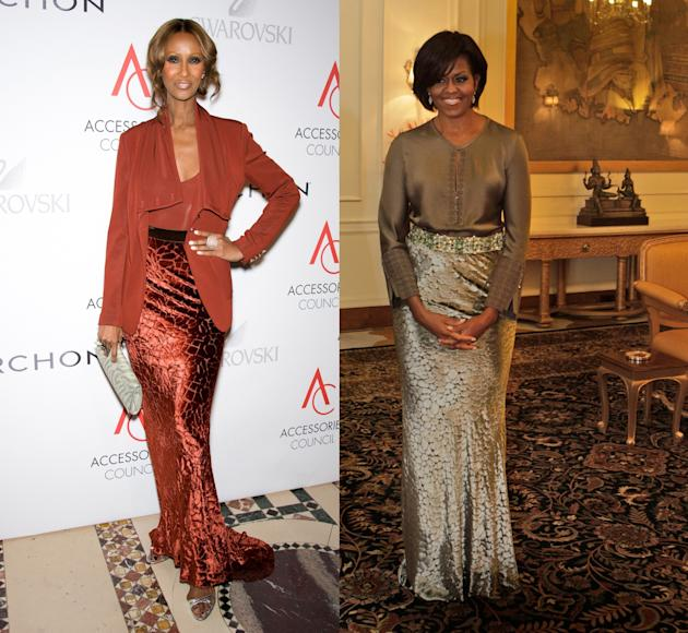 Iman vs. Michelle Obama in Rachel Roy