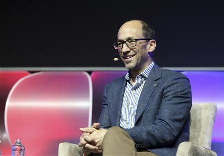 Twitter CEO Costolo smiles during a panel discussion at the annual Consumer Electronics Show in Las Vegas