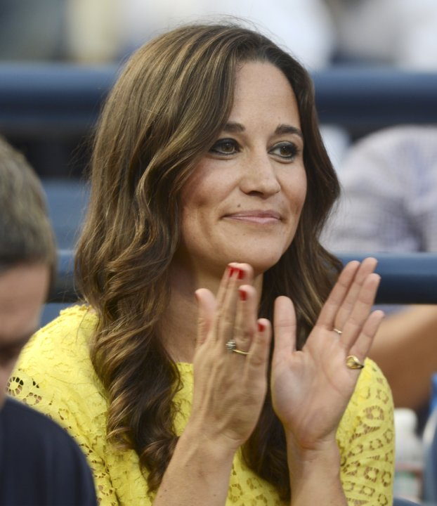 Pippa Middleton, sister of Kate Middleton, watches Britain's Andy Murray play Marin Cilic, of Croatia, in the quarterfinals of the 2012 US Open tennis tournament, Wednesday, Sept. 5, 2012, in New York