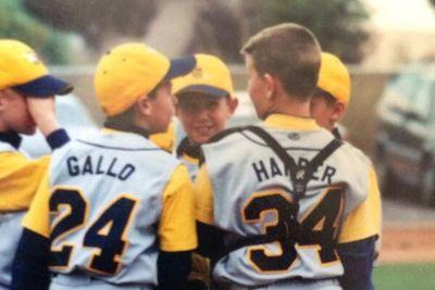 This picture of Bryce Harper and Joey Gallo in Little League is wonderful