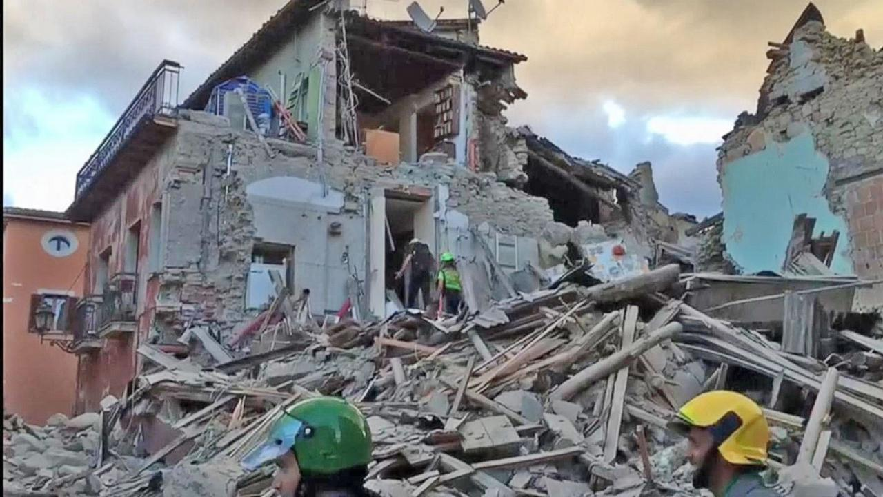 Dozens Killed, Widespread Damage After Strong Quake in Central Italy