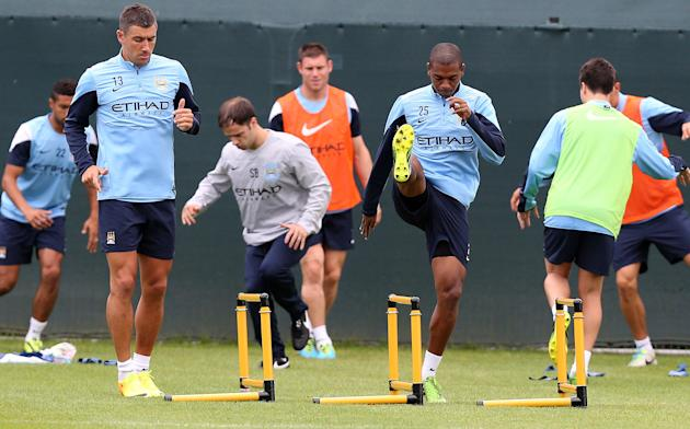 Soccer - Barclays Premier League - Manchester City Training Session - Carrington Training Ground
