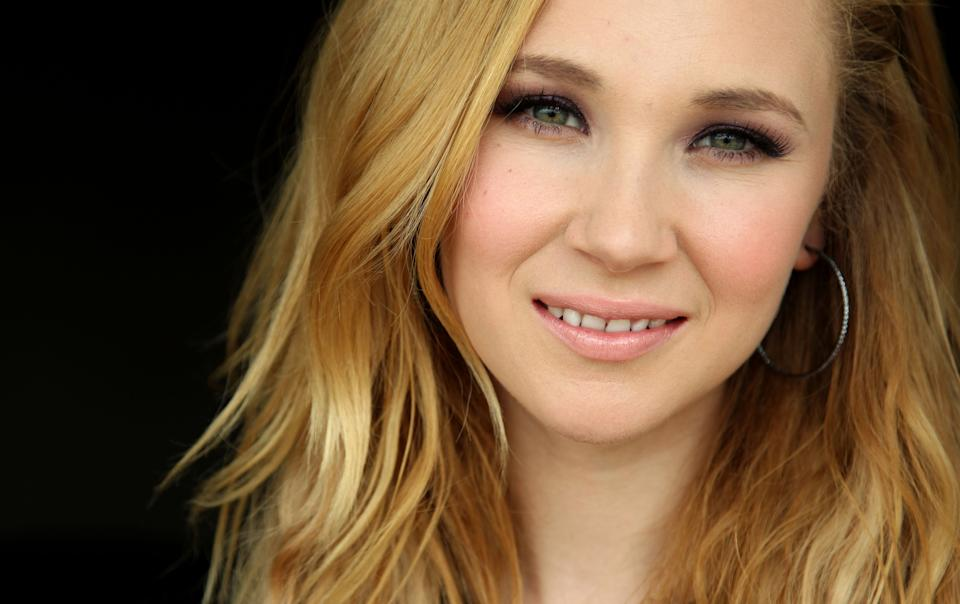 "This July 18, 2012 photo shows actress Juno Temple, from  ""Killer Joe,"" in Beverly Hills, Calif. The NC-17-rated film opens in theaters in New York on Friday and other major cities next week. (Photo by Matt Sayles/Invision/AP)"