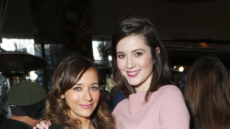 Rashida Jones and Mary Elizabeth Winstead attend the Film Independent Spirit Awards Luncheon at BOA Steakhouse on Saturday, Jan. 12, 2013, in West Hollywood, Calif. (Photo by Todd Williamson/Invision/AP)