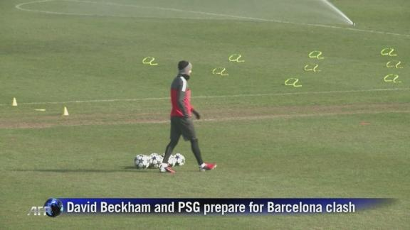Beckham and PSG prepare for Barcelona clash