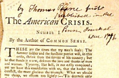 How Thomas Paine's other pamphlet saved the Revolution