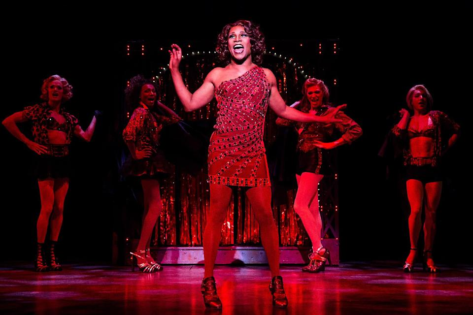 "This theater image released by The O+M Company shows Billy Porter during a performance of ""Kinky Boots."" (AP Photo/The O+M Company, Matthew Murphy)"