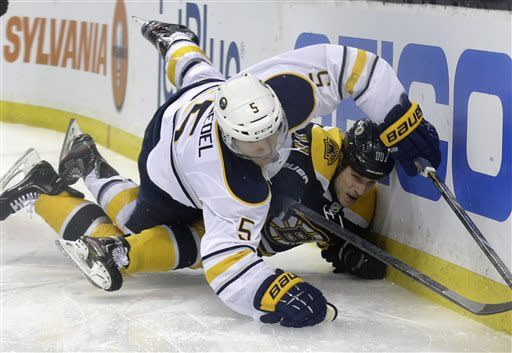 Bruins return home, lose to Sabres 3-2 in shootout