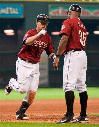 Johnson's 3 RBIs lead Astros over Indians 7-1