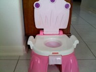 The potty chair - Don't leave home without it.