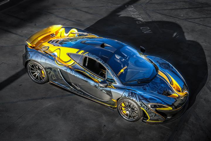 This Black Chrome McLaren PRAB1 P1 Wrap is a Tattooed Masterpiece