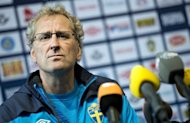 Sweden coach Erik Hamren, pictured on June 7, said on Sunday that he and his squad were taking their opening game against Euro 2012 co-hosts Ukraine seriously despite their openly relaxed approach in training