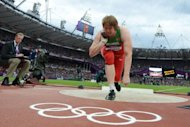 Belarus&#39; Nadezhda Ostapchuk competes to win the women&#39;s shot put final at the athletics event of the London 2012 Olympic Games in London