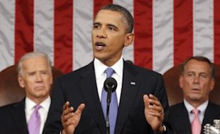 President Barack Obama addresses a Joint Session of Congress at the U.S. Capitol September 8, 2011 in Washington, D.C., to highlight his plan to create jobs for millions of out of work Americans. (Photo: Kevin Lamarque-Pool/Getty Images)