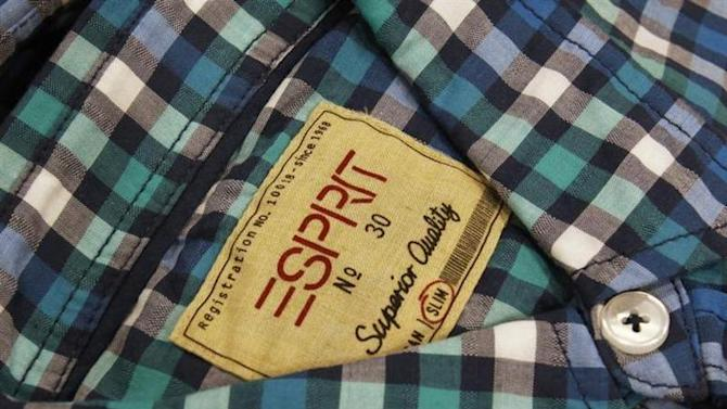 A shirt made by Esprit on display at an outlet in Hong Kong