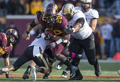 Nelson, Minnesota cruise past Purdue 44-28