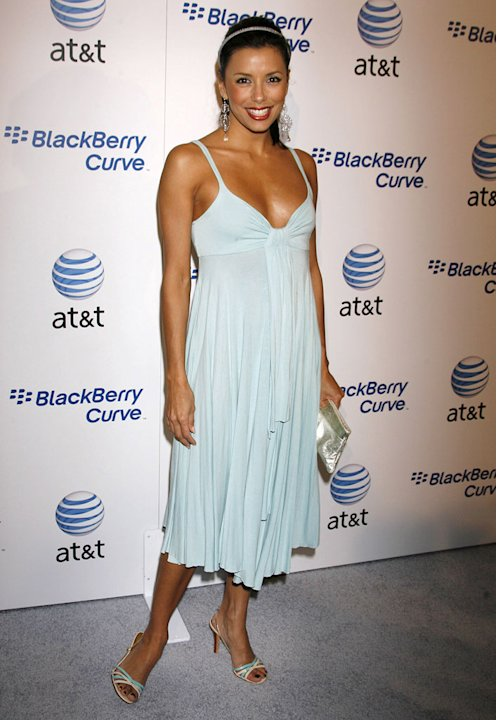 Eva Longoria at the BlackBerry Curve from AT&T Launch Party.